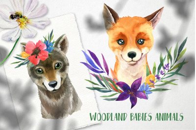 Wodland babies animals | Watercolor set