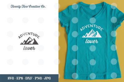 Adventure Lover SVG Cut File - SVG, EPS, DXF, JPG, PNG