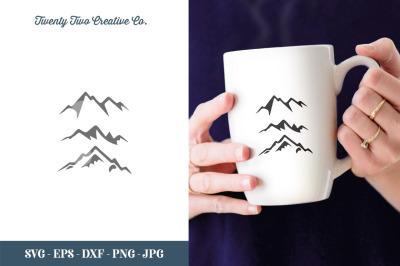 Mountains SVG Cut File - SVG, EPS, DXF, JPG, PNG