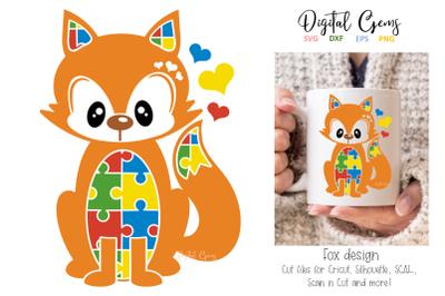 Fox jigsaw / autism design
