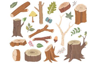 Nature Wooden Collection Elements Set