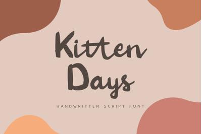 Kitten Days - Handwritten Font