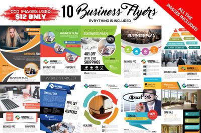 10 Corporate Flyers Template Bundle