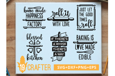 Baking Kitchen Theme SVG cut file and printable file, EPS and DXF file
