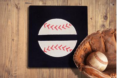 Baseball or Softball Split | Applique Embroidery