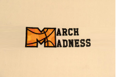 March Madness Basketball | Applique Embroidery