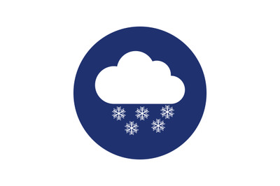 Cloud icon with snow