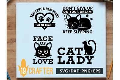 Cat Pet Lover Theme SVG cut file and printable file, EPS and DXF file