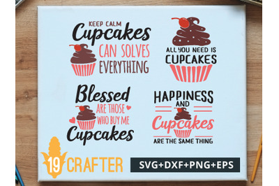 Cupcake Theme SVG cut file and printable file, EPS and DXF file