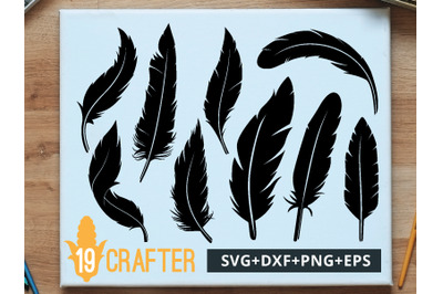 Feather Detail Theme SVG cut file and printable file, EPS and DXF file