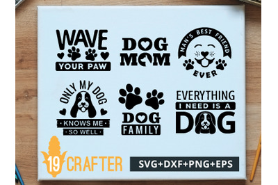 Dog Pet Lover Theme SVG cut file and printable file, EPS and DXF file