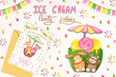 Ice Cream Party Friends