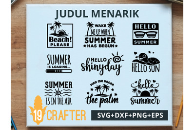 Summer Beach Theme SVG cut file and printable file, EPS and DXF file