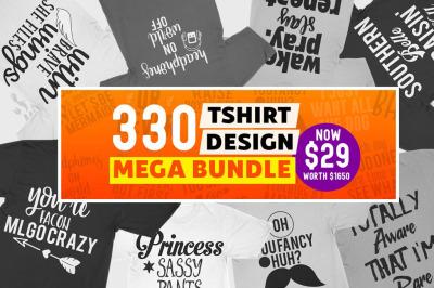 330 Tshirt design mega bundle