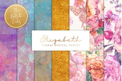 Floral Background & Paper - Elizabeth