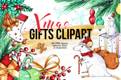 Xmas Gift Clipart Collection