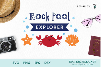 Rock pool explorer - Beach SVG cut file
