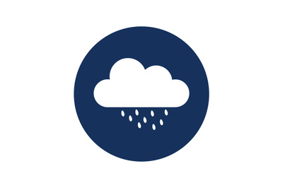 Cloud icon with rain