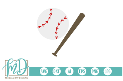 Baseball and Bat SVG
