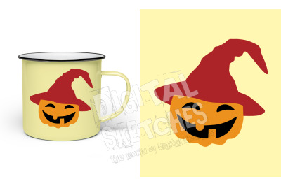 Pumpkin Vector Graphic, Halloween SVG, Halloween Cut File, DXF Cricut