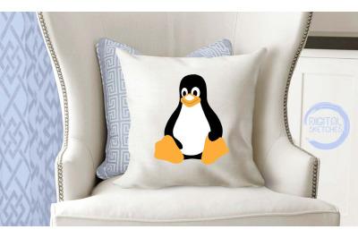 Tux Penguin SVG, Penguin Vector, SVG Linux Tux, DXF Cricut Tux