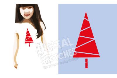 Christmas Tree SVG, Tree Vector, SVG Holiday SVG, DXF Cricut