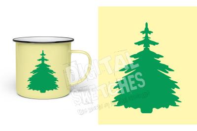 Fir Tree SVG, Tree Vector, Forest SVG, SVG, DXF Cricut Tree