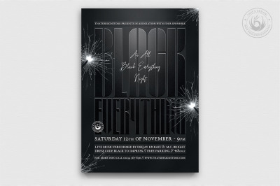 Black Party Flyer Template V5