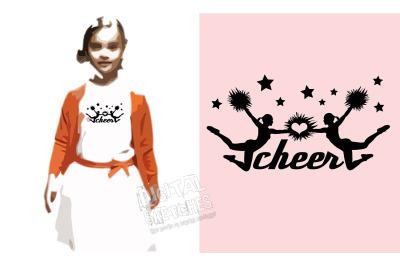 Cheer Love Vector Graphic, Cheerleader SVG, DXF, Cheer Stars