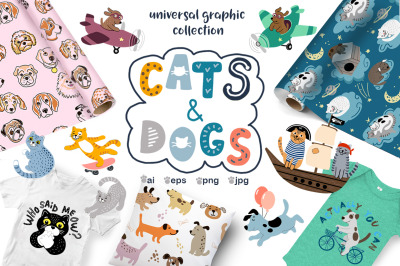 Cats and Dogs. Universal collection