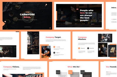 Carnivore Soul - Food Powerpoint Template
