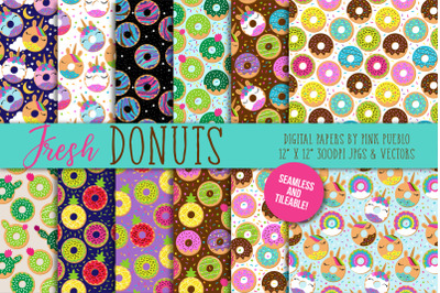 Seamless Donut Backgrounds