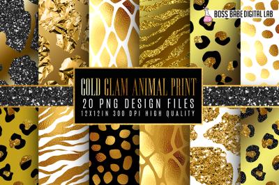 20 Gold Glam Animal Print Patterns