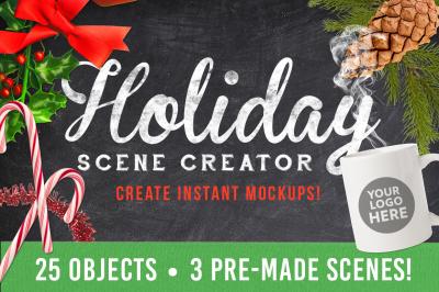 Christmas Holiday Mockup Creator
