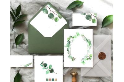 Eucalyptus, frame composition