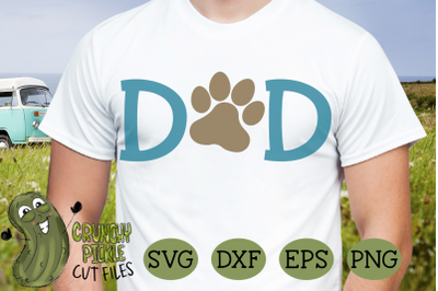 Dog Dad Paw SVG