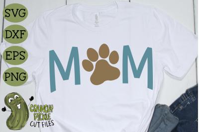 Dog Mom Paw SVG