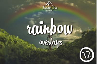 Rainbow Overlay for Photoshop. Rainbow Backdrop Photo Clipart PSD