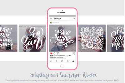 30 Template Instagram summer quotes