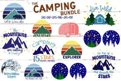 The Camping Bundle SVG Cut Files