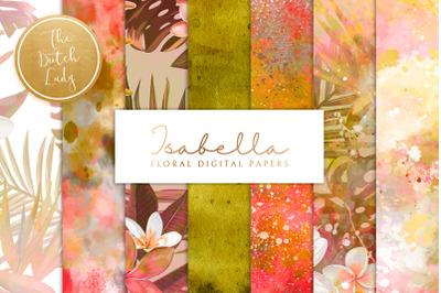Floral Background & Paper - Isabella
