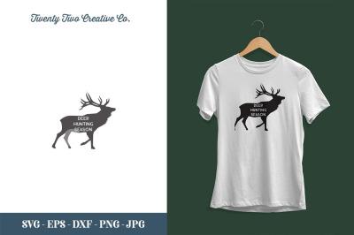 Deer Hunting Season SVG - SVG, EPS, DXF, JPG, PNG