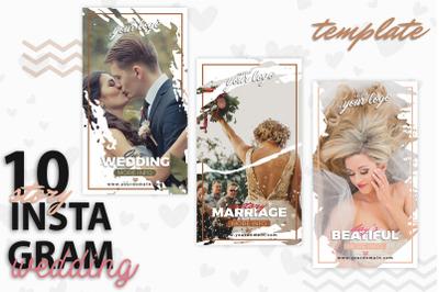 instagram Stories Template-Wedding