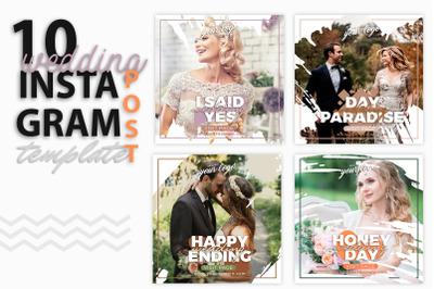 instagram Post Template-Wedding