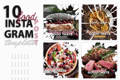 instagram Post Template-Food