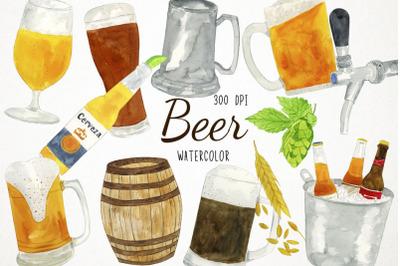 Watercolor Beer Clipart, Beer Clip Art