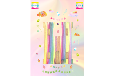 CANDY CASTLE CARD AND EMBELLISHMENT SET