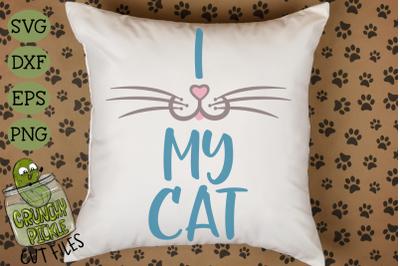 I Heart My Cat - Cat Mom SVG