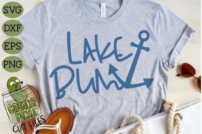 Lake Bum Anchor SVG