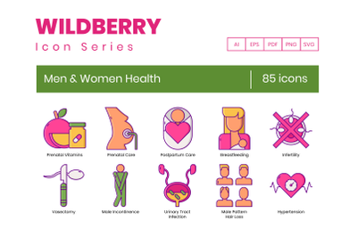 85 Men & Women Health Icons